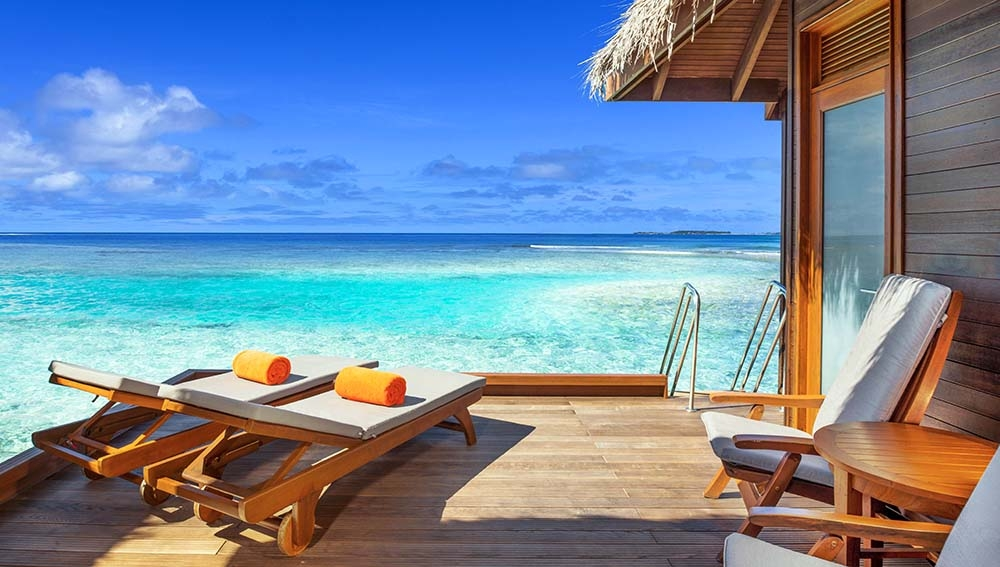 Water Bungalows with Pool