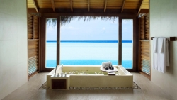 Anantara Sunset Over Water Suite bathw ith decoration