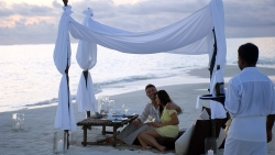 Conrad Rangali Island Private Beach Dining